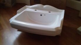 Victorian style basin. Brand new in box.