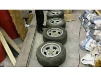 "Ford fitting Allycat wheels 14"" supa slots, retro and rare alloys, Capri hot rod etc"