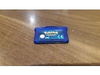 Pokemon GBA Sapphire Version Cartridge For Sale.