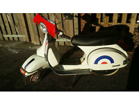2014 VESPA PX 125 ONLY 1500 miles . SPARES REPAIR