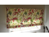 Floral Roman Blind, quality made great condition 18 months old and cost just short of £200