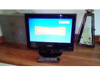 "LCD tv 15.4"" Tecknica with remote control"