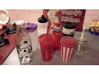 Variety of drinking beakers, 8 in total
