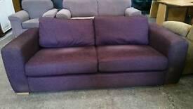 Modern 2 seater fabric sofa