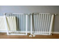 Lindam sure shut axis safety stair gates (like new)