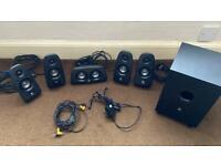 Logitech 5.1 speaker set surround