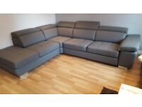 Italian Sofa Delivery 1-3 days Corner Sofa Leather SIMON Brand New Storage two colours