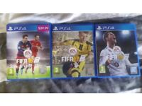 FIFA 16, 17 and 18 PS4 game bundle