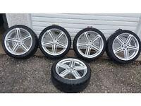 Audi 18'' 5 x alloy wheels + 5 x tyres 225 40 18 ''