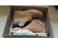 Men's Timberland Boots -6 inch Rust Nubuck - UK 9