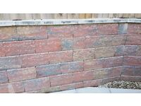 Large durable rustic red/grey cementless bricks (40×20cm) - £7 each or £175 for all 35 bricks