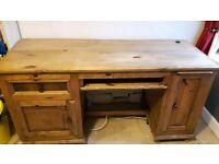 Solid wood desk. Hardwearing. Can be used for computer, study desk, vanity desk.