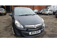 VAUXHALL CORSA 2014 38,000 MILES 1.2 DIESEL MANUAL 5 DOOR HATCHBACK BLACK