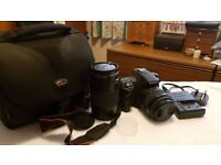 For sale Sony A58 DSLR Camera, 2 Lenses and Lowepro case