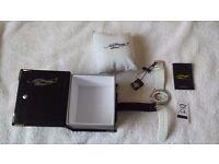 New Ladies Ed Hardy by Christian Audigier Swarovski Crystal Stone Set Watch Boxed BNWT