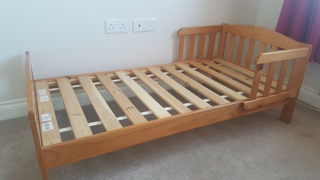 SOLD Mothercare Pine Toddler Bed