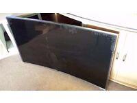 "Samsung Smart TV UE55JU7500 55"" 3D 4k UHD LED Internet TV Spare Repair !!! Cracked"