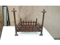 spectacular wrought iron fire grate