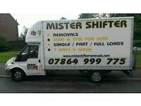 Cheap removals / storage/ house clearance /man and luton tail lift van hire from £20