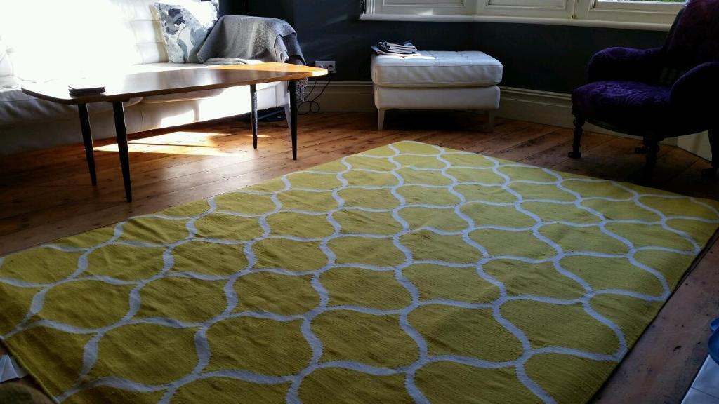 New yellow stockholm rug ikea 100 wool in bishopston bristol
