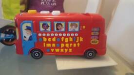 Vtech playtime bus and matchbox metal detector