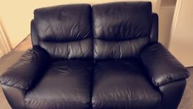 2 seater black recliner. Perfect condition