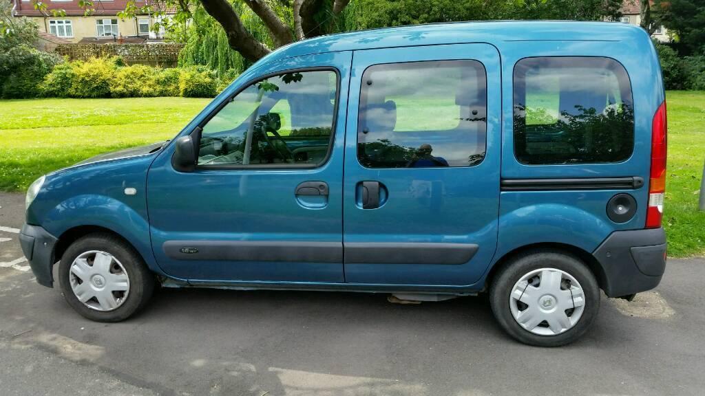 AUTOMATIC + 2008+RENAULT KANGOO AUTO 1598cc + LOW MILEAGE 49000 + MPV + BLUE + MOT 2018 +REMOTE LOCK