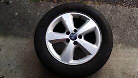 FORD FOCUS ALLOY WHEEL AND TYRE 2005 ONWARDS 5X108