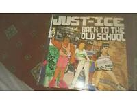 3 vinyl records just-ice,mantronix, rhyme syndicate