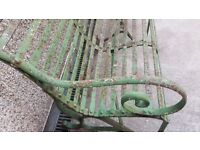 Wrought iron garden Bench 6ft