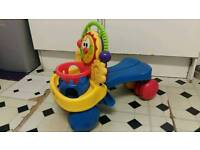 Fisher price 2 in 1 ride on and baby walker