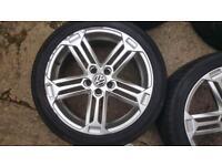 17' 5x100 alloy wheels vw sirocco style