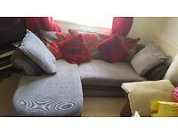 GREY FABRIC AND LEATHER SOFA WITH RIGHT CHAISE NEED GONE BY TOMORROW!!!!