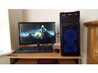 Ultra Fast Gaming PC Quad Core i7 Microsoft Windows10 Pro 16GB RAM 3GB Graphics Card 1TB HDD