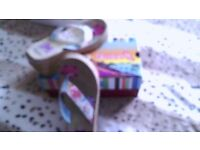 Sketchers multi coloured wedge sandals toeposts Size 5 . Worn once too high for me, lovely condition