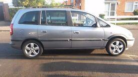 2004 Vauxhall Zafira Energy 16V. 7 seater MPV.