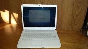 Sony Vaio Laptop + White + Windows 10