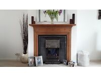 Fantastic Gazco Gas Cast iron fan flue fire with hearth, surround, fan, switch, full kit