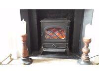 woodburner. Electric cast iron woodburner. As new.