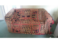 Two Seater Settee together with Rocking Chair