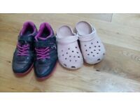 Clarks and crocs size 13.f
