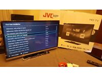 Boxed JVC 32- Inch SMART FULL HD LED TV COMBI with Built-in DVD PLAYER, Wifi,Freeview HD,Netflix