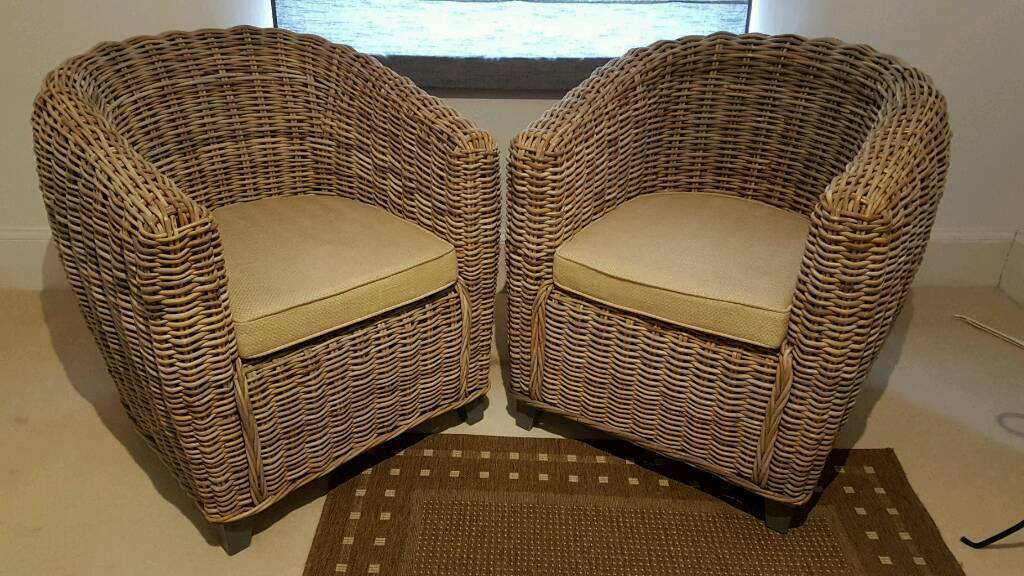 Rattan Tub Chairs Set Of 2 In Reigate Surrey Gumtree