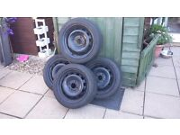 4 times steel rims with good tyres