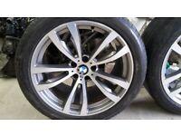 "genuine bmw x5 f15 20""m sport alloy wheels 469m"