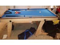 Fold away pool table 6 feet x 3.5 feet