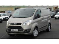 2015 FORD TRANSIT 290 CUSTOM TREND EDITION 125 BHP. STUNNING VAN. ONLY 28000 MILES. EVERY EXTRA.