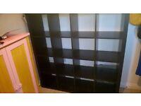 IKEA EXPEDIT / KALLAX storage unit black 4 x 4