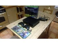 Xbox One (500GB) with 2 controllers and 3 games