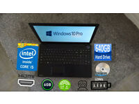 TOSHIBA INTEL CORE i5 6GB 640GB WIN10 LAPTOP